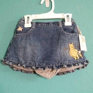 NWT Disney Winnie the Pooh Embroidered Denim Skirt